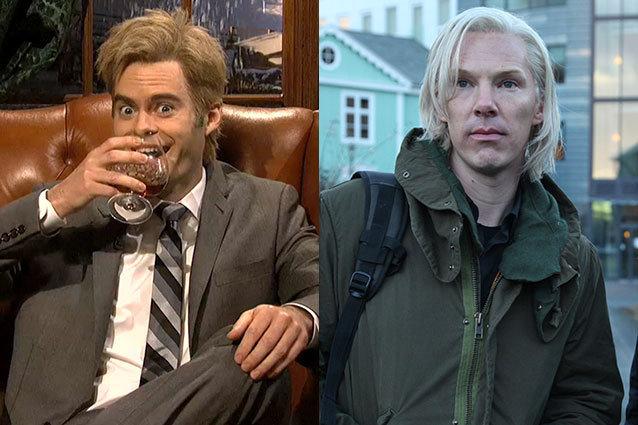 Bill Hader, Benedict Cumberbatch, Julian Assange Impressions