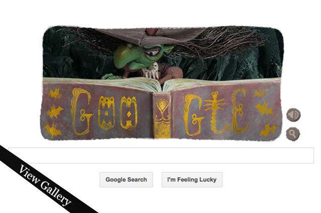 Google Doodle, halloween