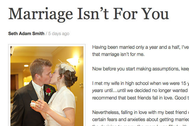 Marriage Isn't For You, Article