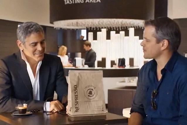 George Clooney, Matt Damon Nespresso ad