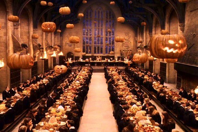 The Great Hall, Harry Potter