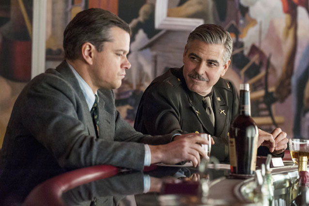 Monuments Men, George Clooney and Matt Damon