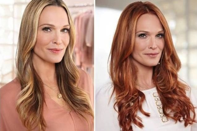 Molly Sims Debuts Red Hair