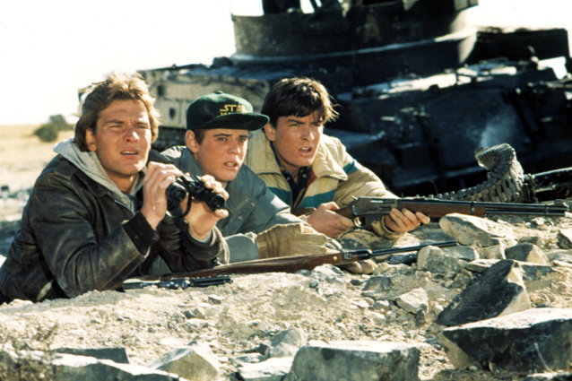Red Dawn, Patrick Swayze, C. Thomas Howell and Charlie Sheen