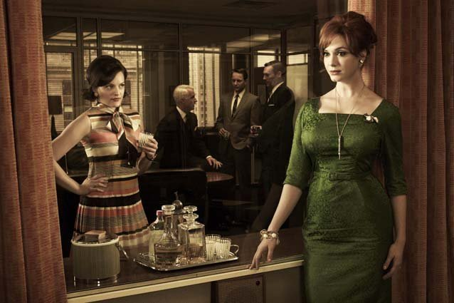 Mad Men, Elisabeth Moss and Christina Hendricks