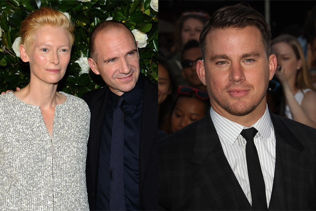 Tilda Swinton, Ralph Fiennes and Channing Tatum