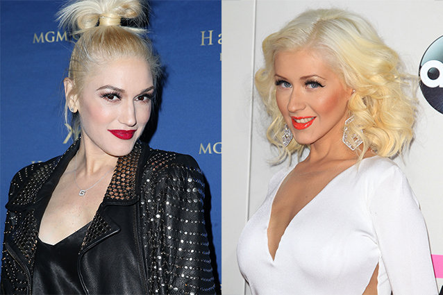 Christina Aguilera and Gwen Stefani