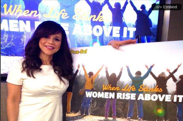 Rosie Perez Pine-Sol Interview