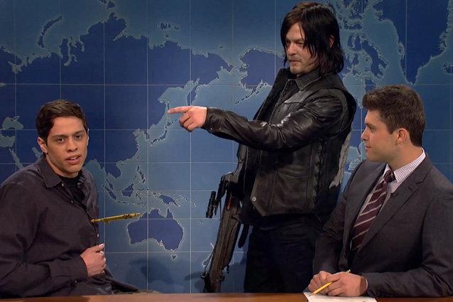 Saturday Night Live, Norman Reedus, Colin Jost, Pete Davidson