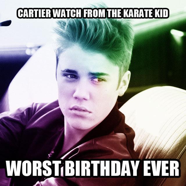 Justin Bieber Worst Birthday Meme