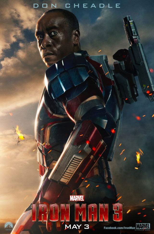 Don Cheadle as Iron Patriot in Iron Man 3
