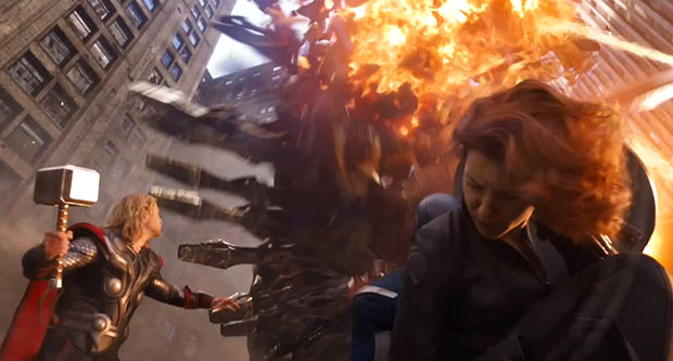 Avengers action scene