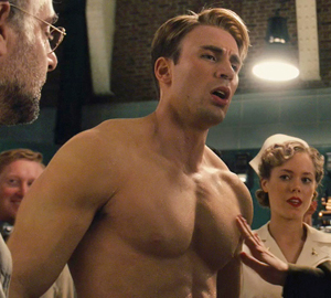 Captain America Shirtless