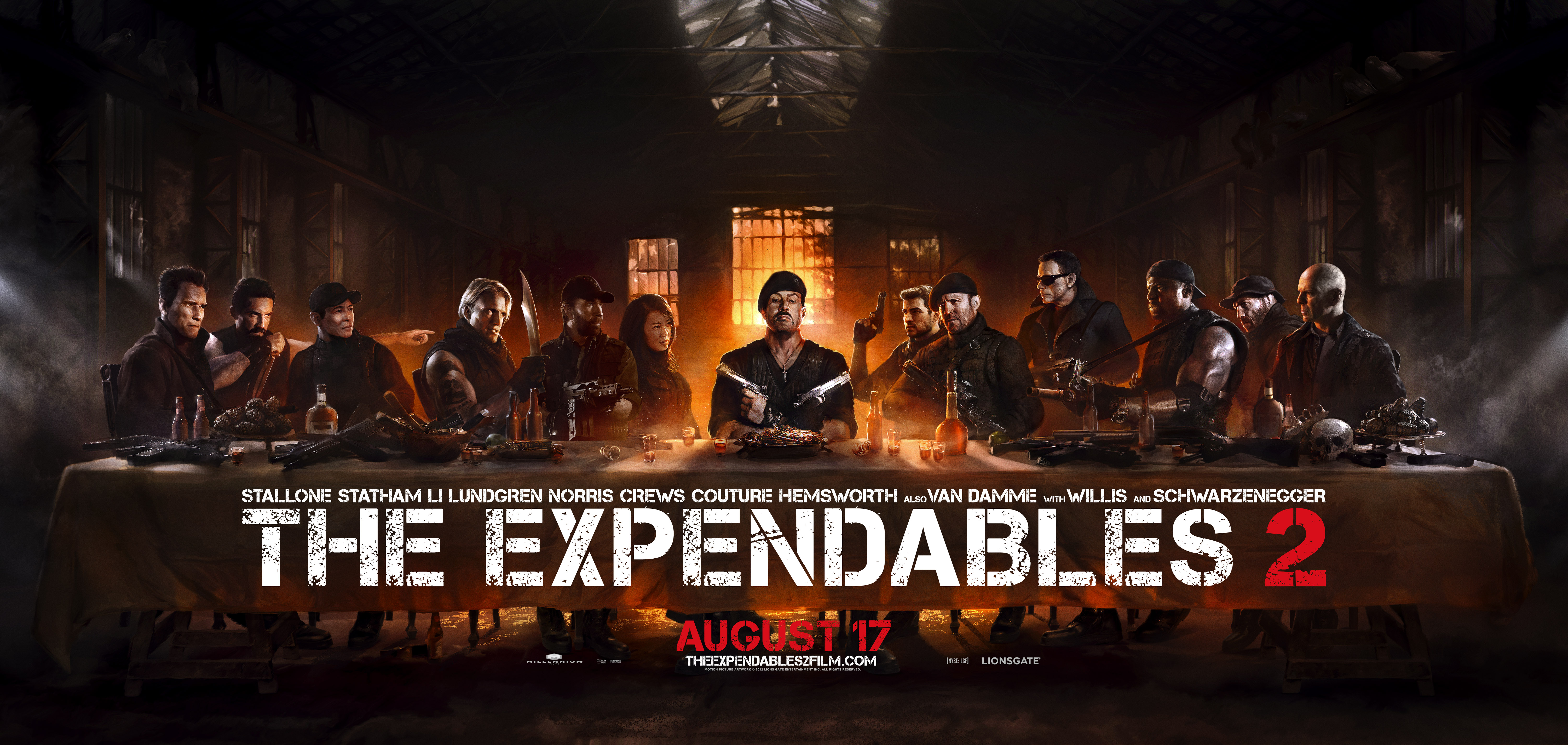 Expendables 2 Last Supper Poster