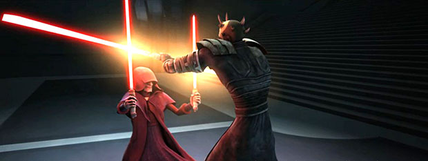 Star Wars The Clone Wars Recap, Darth Sidious Shows Maul Who's the Master