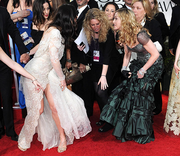 Jessica Biel Madonna dress rip