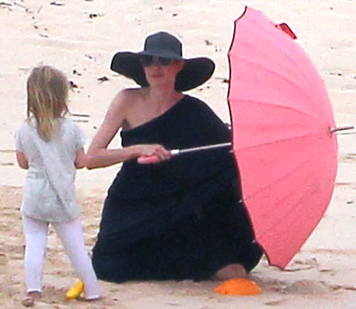Angelina Jolie Beach