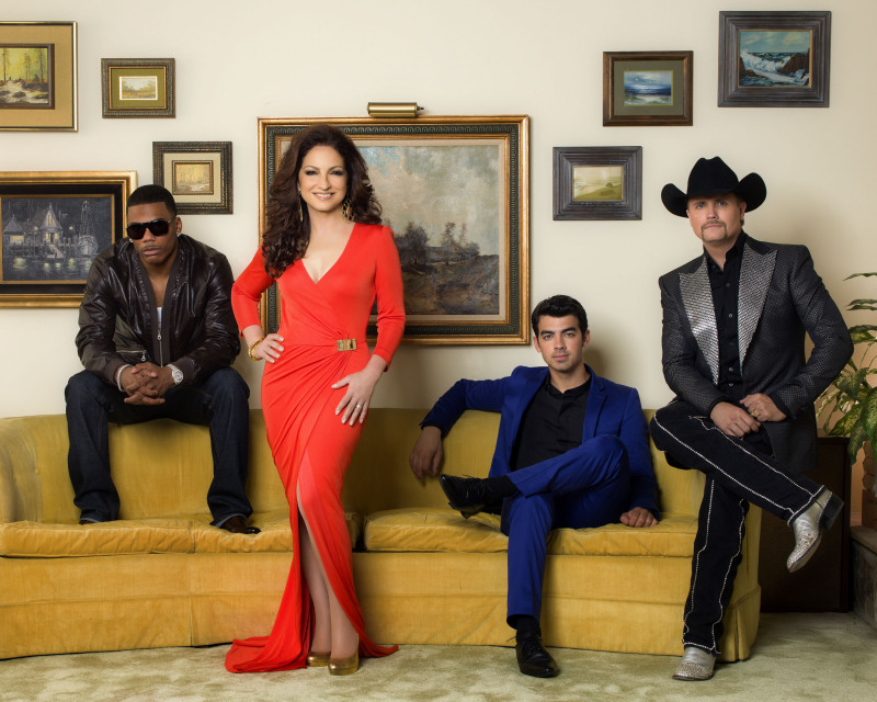 Nelly, Gloria Estefan, Joe Jonas and John Rich