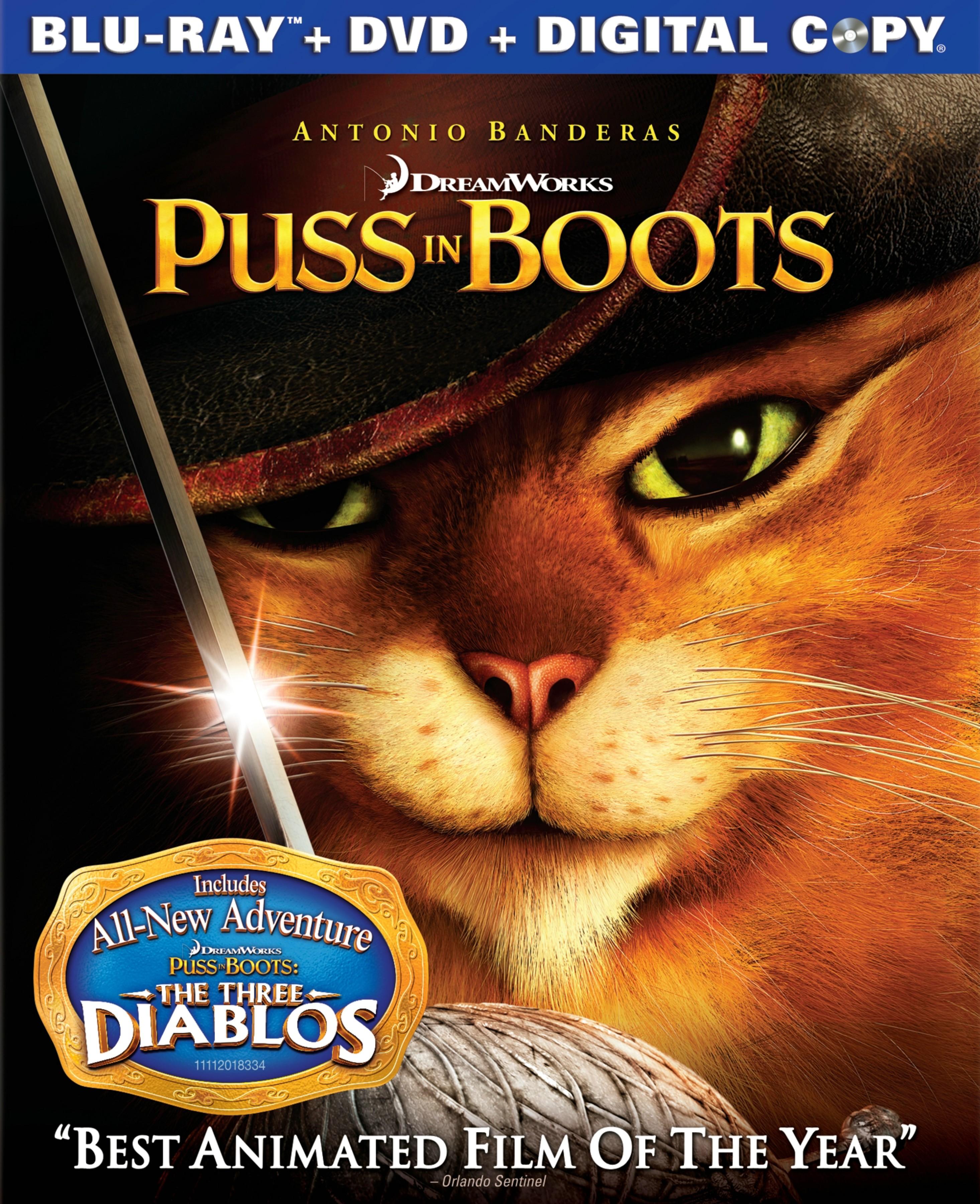 Puss in Boots Blu ray Box Art