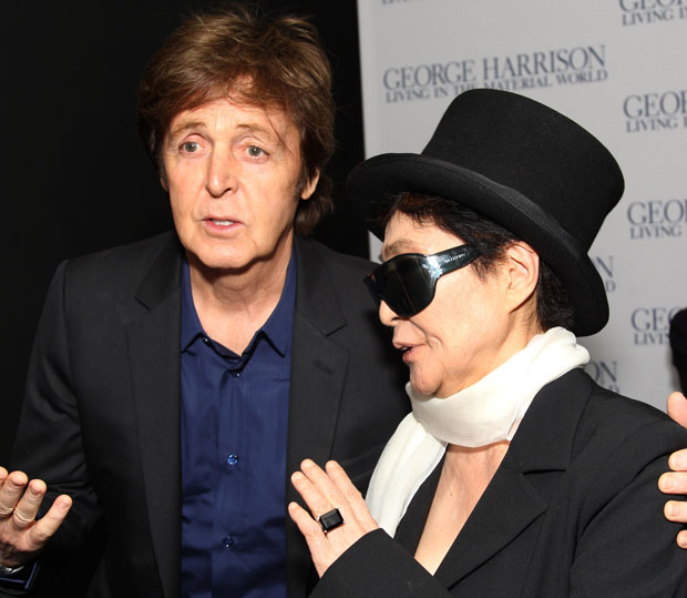 Paul McCartney and Yoko Ono