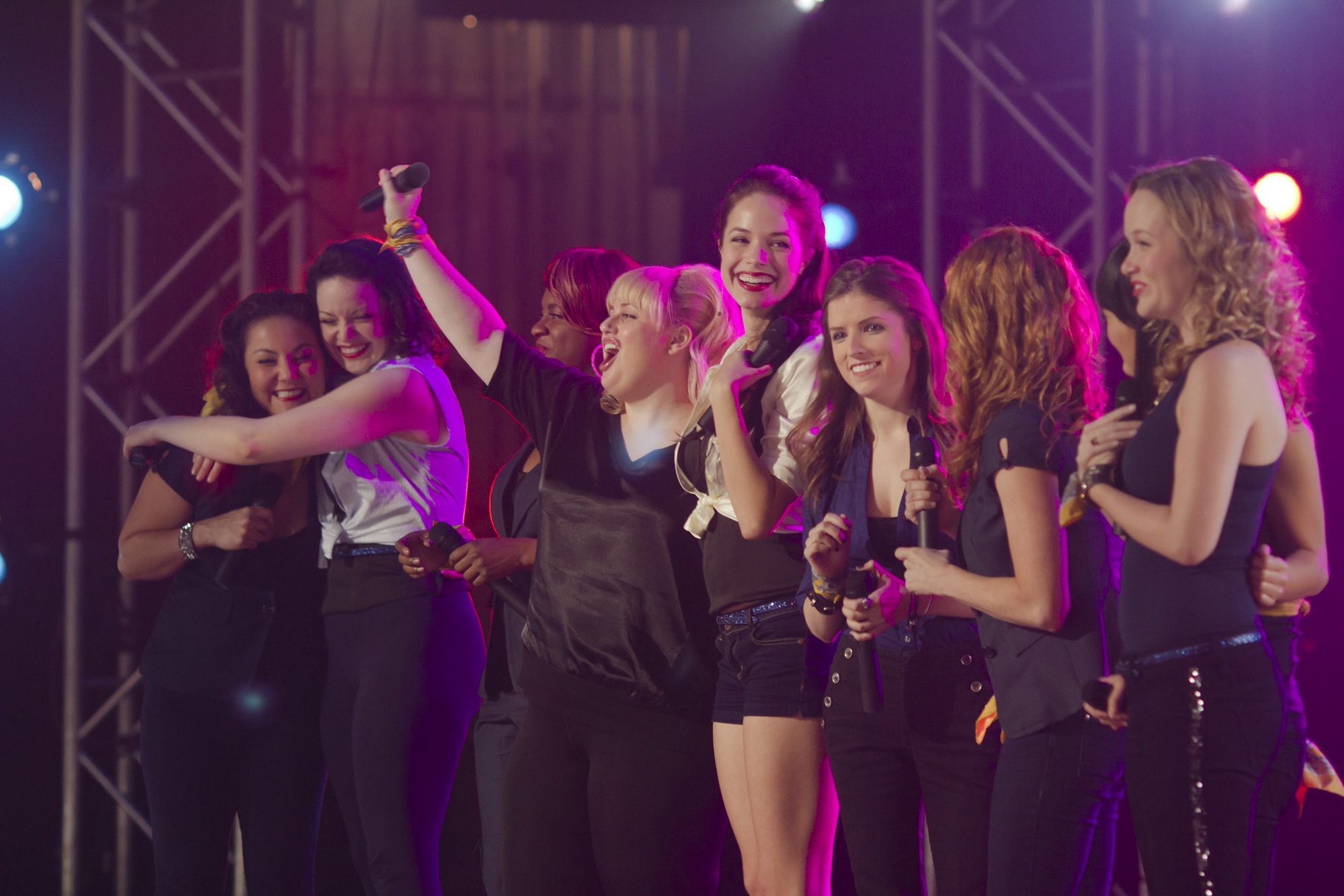 Anna Camp And The Stars Of Pitch Perfect Sing And Spill Set
