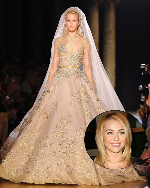 Miley Cyrus Wedding Dress.Miley Cyrus Wedding Dress Found And 10 More Fashion Week Predictions