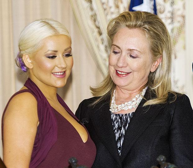 Christina Aguilera Hillary Clinton