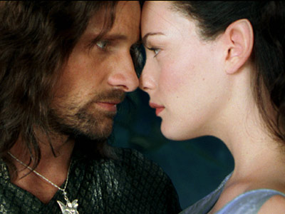 LOTR The two towers aragorn arwen