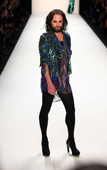 Funny photo fashion runway