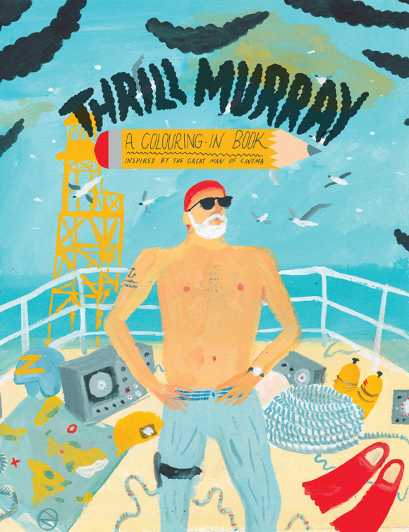 Bill Murray coloring book cover