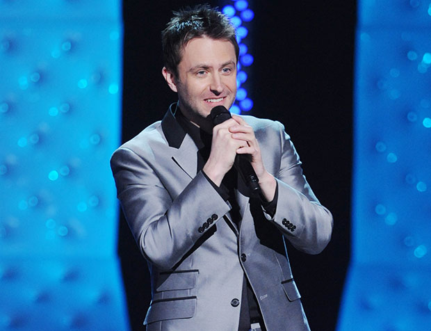 Chris Hardwick performs stand-up in Mandroid