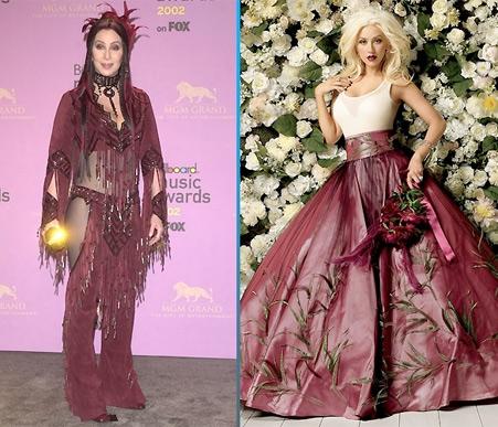 Cher Vs. Christina Aguilera Burlesque  sc 1 st  Hollywood.com & Fashion Showdown: Cher vs. Christina Aguilera