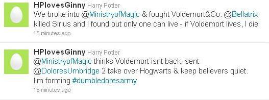 Harry Potter Tweet