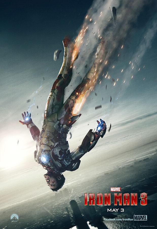 Iron Man 3 Falling Poster
