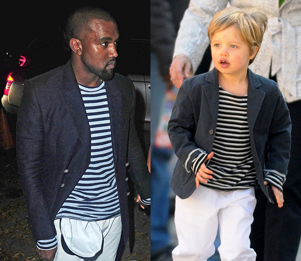 Kanye and Shiloh style