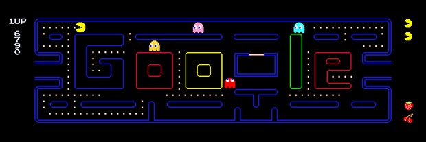 Pac Man Google Doodle