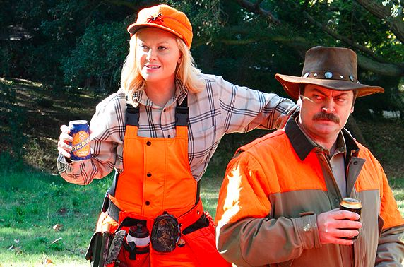 Parks and Rec Leslie and Ron Hunting