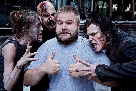 Robert Kirkman Walking Dead on Set