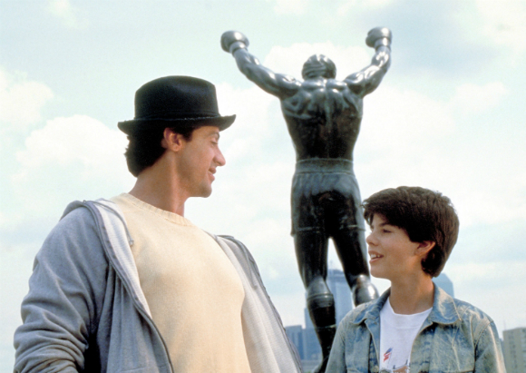 Sage Stallone and Sly