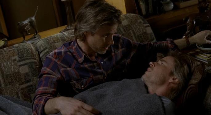 Sam Kisses Himself True Blood