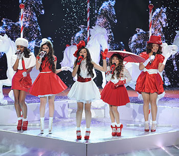 Fifth Harmony Christmas Song on the X Factor